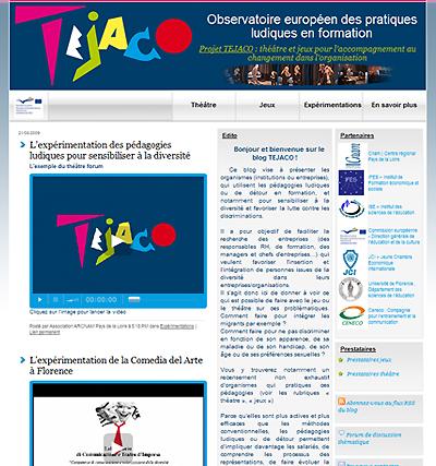 Blog TEJACO Observatoire européen des pratiques ludiques en formation : théâtre et jeux pour l'accompagnement au changement dans l'organisation